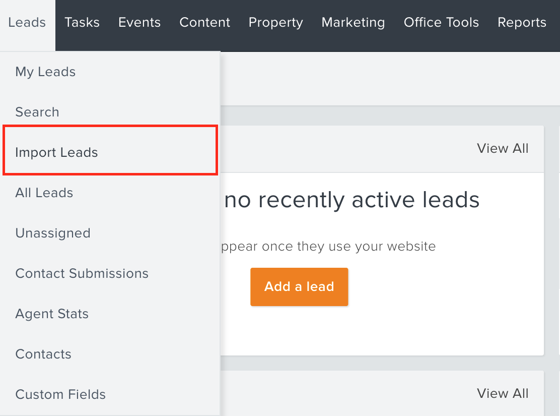 Agentstats importing a list of leads from google or another source